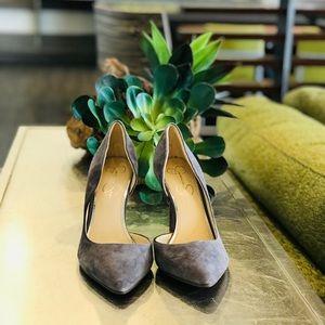 Jessica Simpson Grey Suede Heels 👠